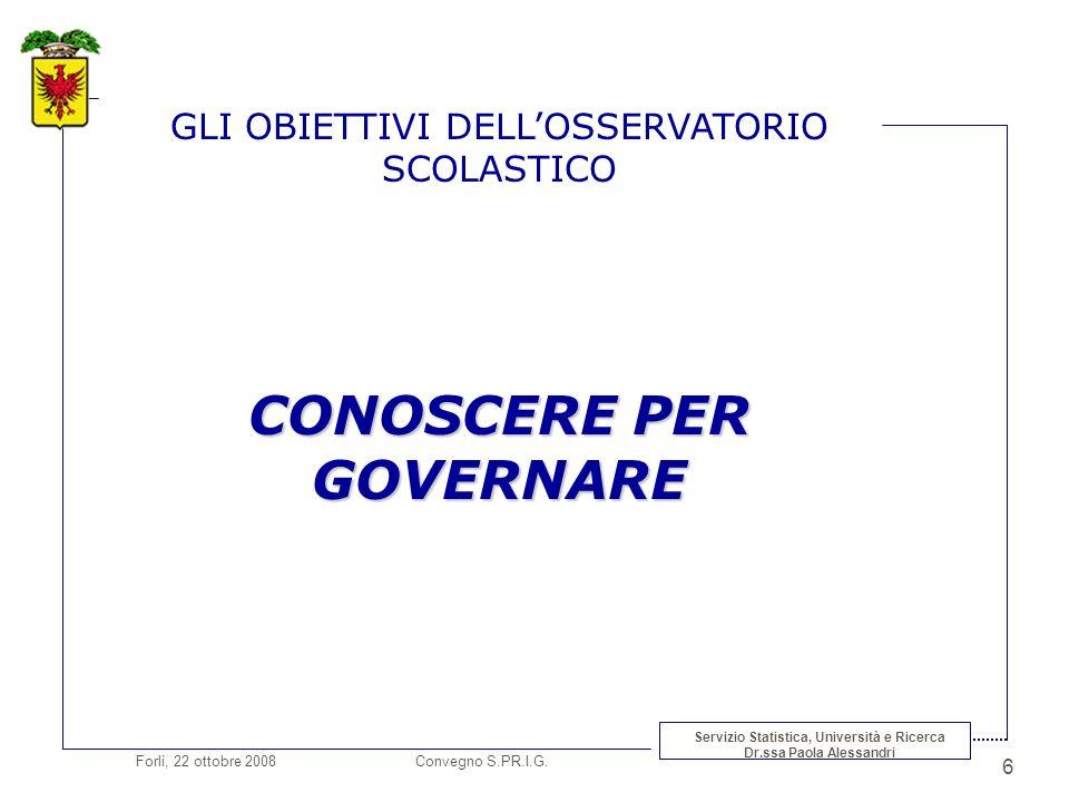 Forlì, 22 ottobre 2008 Convegno S.PR.I.G.