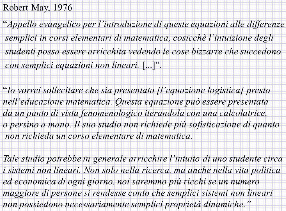 Appello evangelico per lintroduzione di queste equazioni alle differenze semplici in corsi elementari di matematica, cosicchè lintuizione degli studen