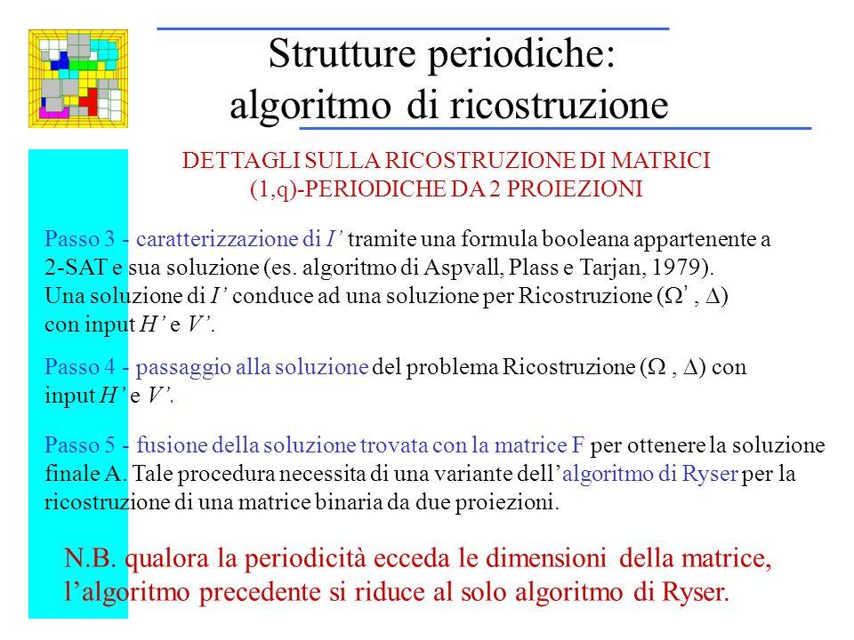 Passo 3 - caratterizzazione di I tramite una formula booleana appartenente a 2-SAT e sua soluzione (es.