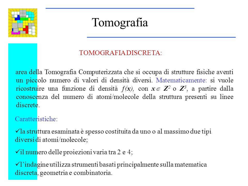 Tomografia area della Tomografia Computerizzata che si occupa di strutture fisiche aventi un piccolo numero di valori di densità diversi.
