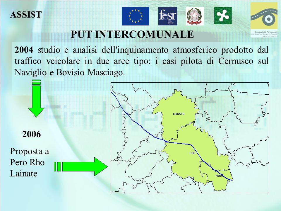 PUT INTERCOMUNALE 2004 studio e analisi dell'inquinamento atmosferico prodotto dal traffico veicolare in due aree tipo: i casi pilota di Cernusco sul