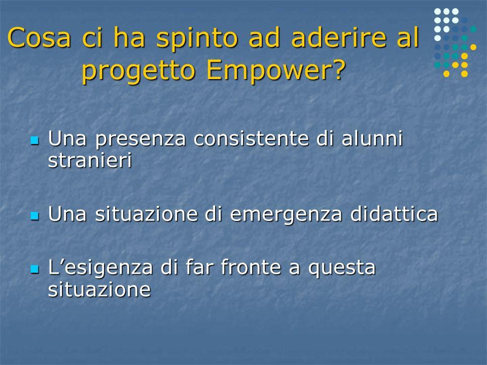 Cosa ci ha spinto ad aderire al progetto Empower.