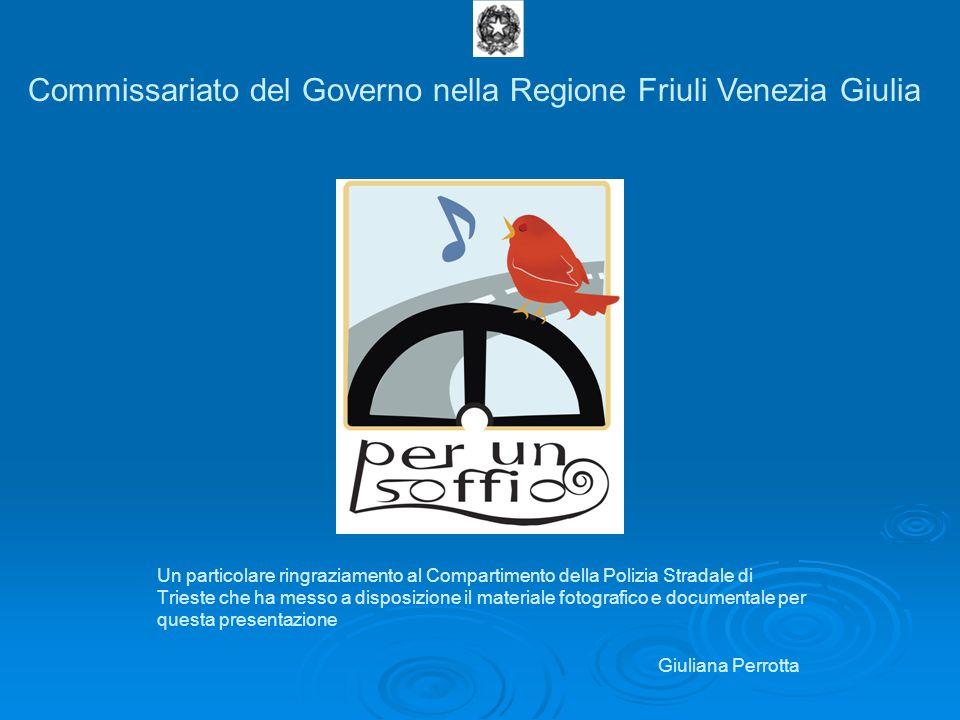 Campagna per la riduzione degli incidenti stradali promossa dal Commissariato del Governo nella Regione Friuli Venezia Giulia nella Regione Friuli Ven