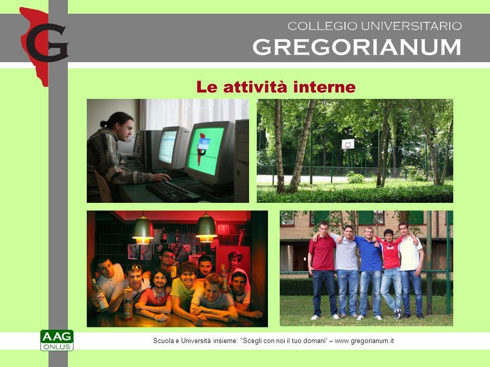 Le attività interne Scuola e Università insieme: Scegli con noi il tuo domani – www.gregorianum.it