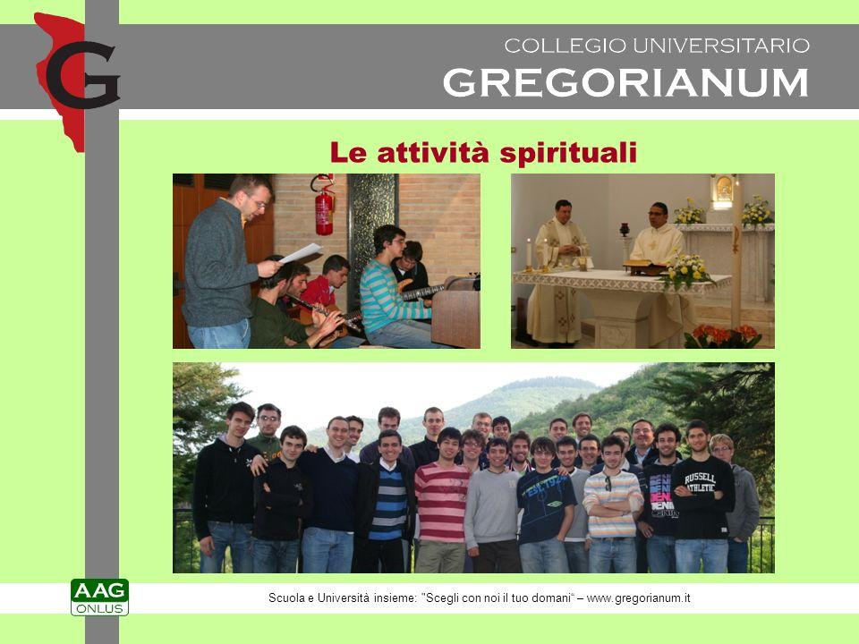 Le attività spirituali Scuola e Università insieme: Scegli con noi il tuo domani – www.gregorianum.it
