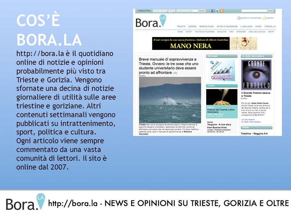 COSÈ BORA.LA http://bora.la è il quotidiano online di notizie e opinioni probabilmente più visto tra Trieste e Gorizia.