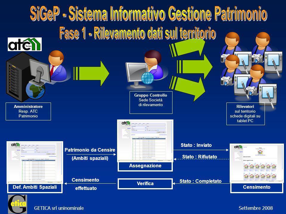 GETICA srl uninominale Settembre 2008 Amministratore Resp.