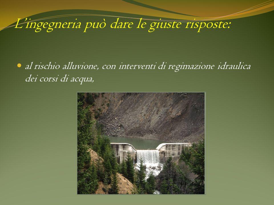 Lingegneria può dare le giuste risposte: al rischio alluvione, con interventi di regimazione idraulica dei corsi di acqua, Foto di una sistemazione fl