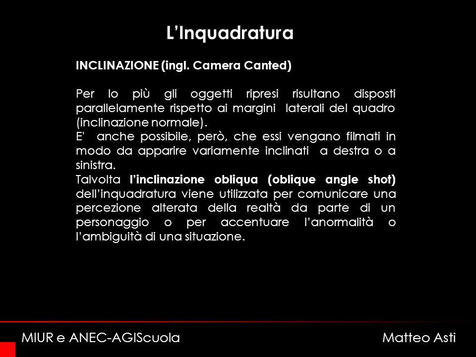 LInquadratura INCLINAZIONE (ingl.