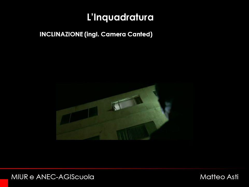 LInquadratura INCLINAZIONE (ingl. Camera Canted) MIUR e ANEC-AGIScuola Matteo Asti