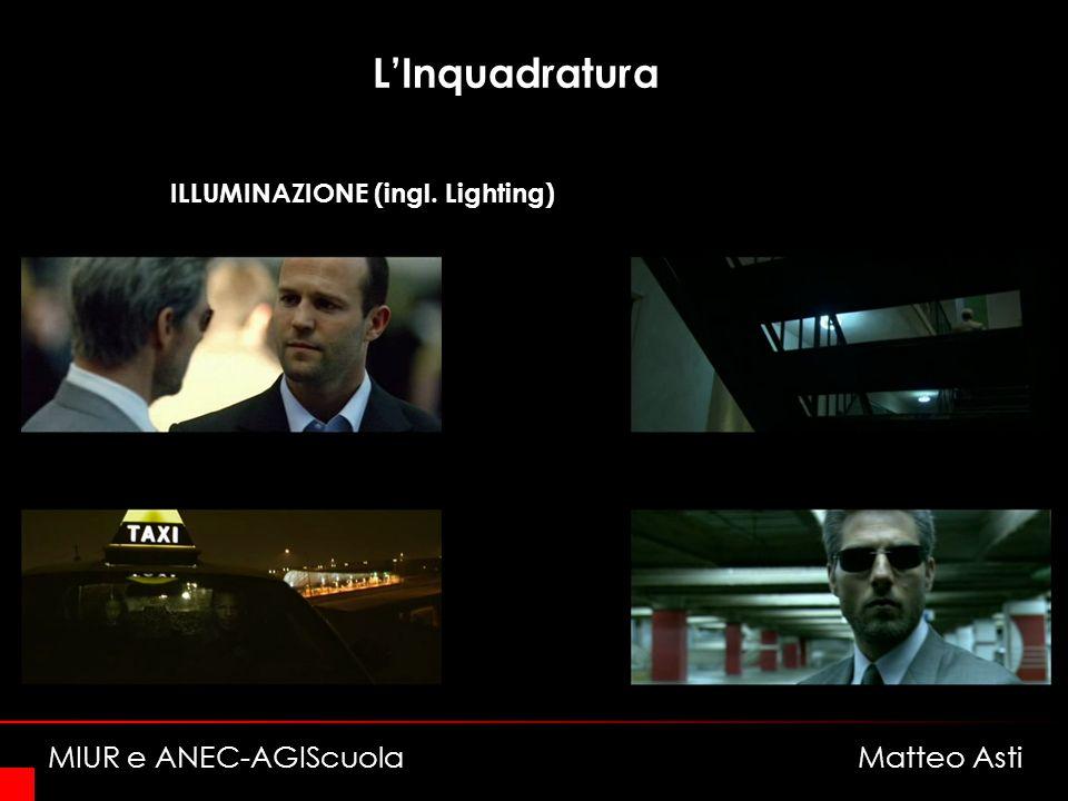 LInquadratura ILLUMINAZIONE (ingl. Lighting) MIUR e ANEC-AGIScuola Matteo Asti