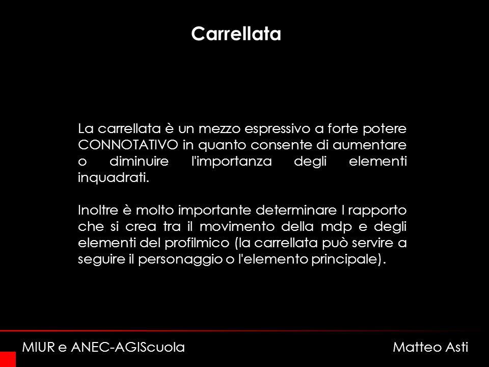 Carrellata La carrellata è un mezzo espressivo a forte potere CONNOTATIVO in quanto consente di aumentare o diminuire l importanza degli elementi inquadrati.