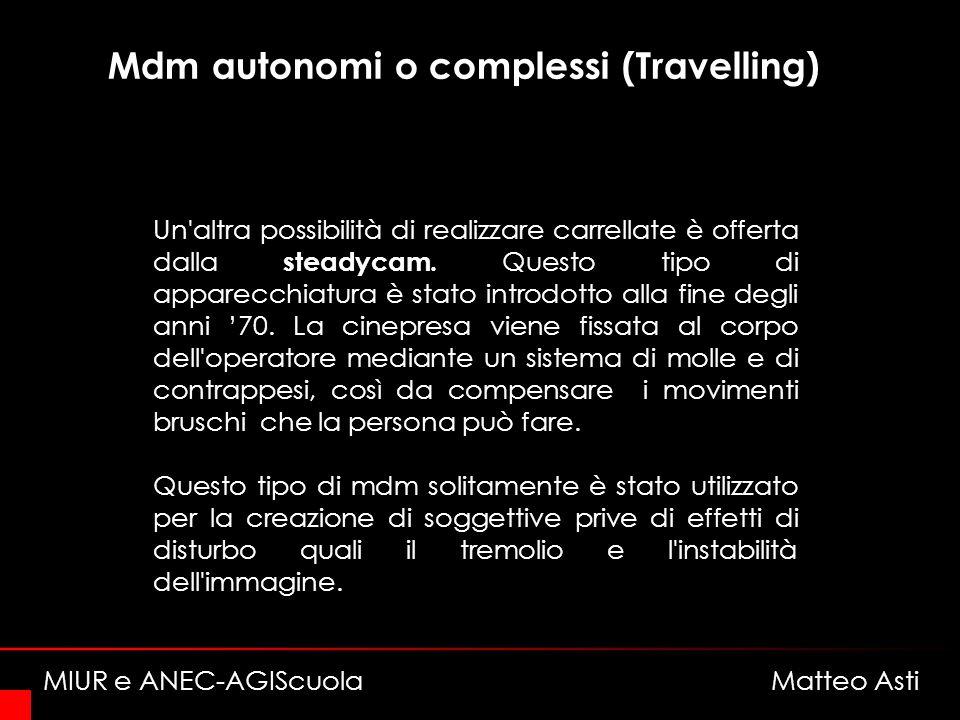 Mdm autonomi o complessi (Travelling) Un altra possibilità di realizzare carrellate è offerta dalla steadycam.