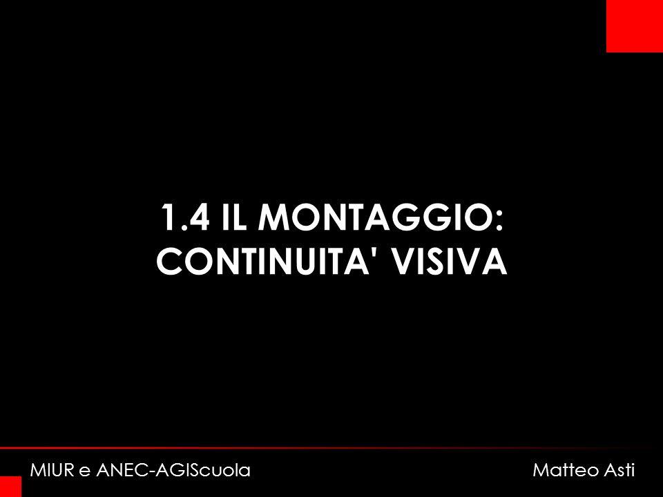 1.4 IL MONTAGGIO: CONTINUITA VISIVA MIUR e ANEC-AGIScuola Matteo Asti