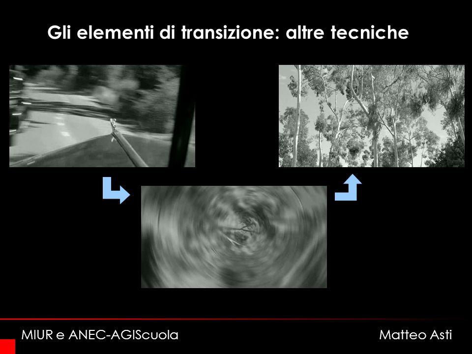 Gli elementi di transizione: altre tecniche MIUR e ANEC-AGIScuola Matteo Asti