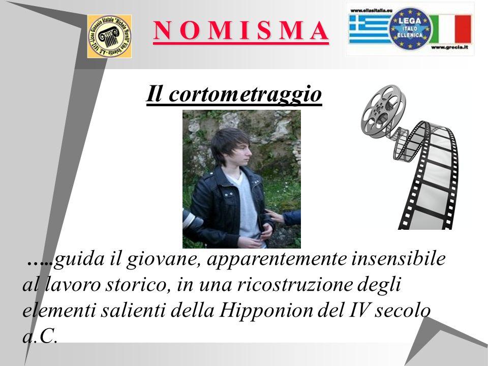 Il cortometraggio ….. guida il giovane, apparentemente insensibile al lavoro storico, in una ricostruzione degli elementi salienti della Hipponion del