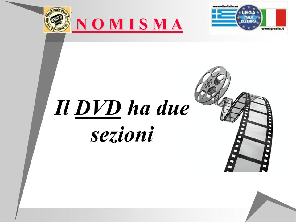 N O M I S M A N O M I S M A Il DVD ha due sezioni