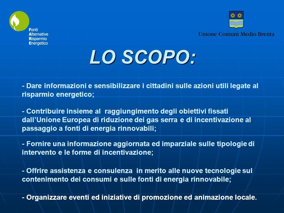 LO SCOPO: - Organizzare eventi ed iniziative di promozione ed animazione locale. - Dare informazioni e sensibilizzare i cittadini sulle azioni utili l