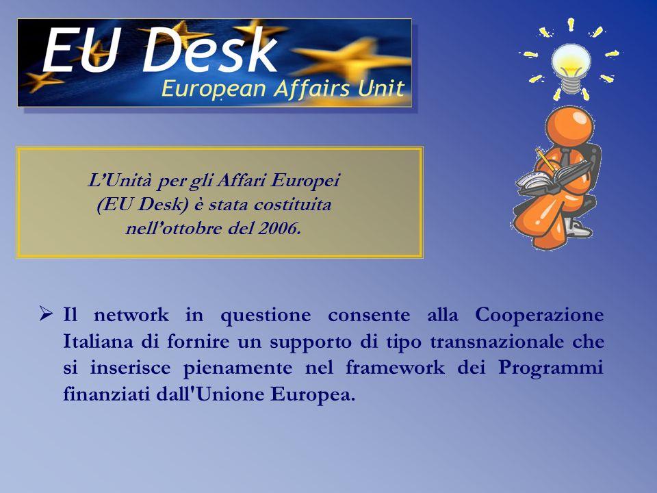 L'istituzione di questa Unità è frutto di una precisa strategia dell'Italia nella regione e completa un network di unità analoghe create a Belgrado e