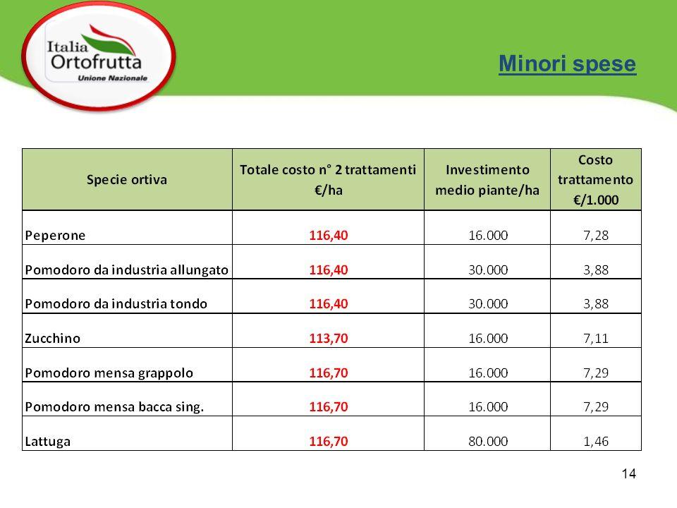 14 Minori spese