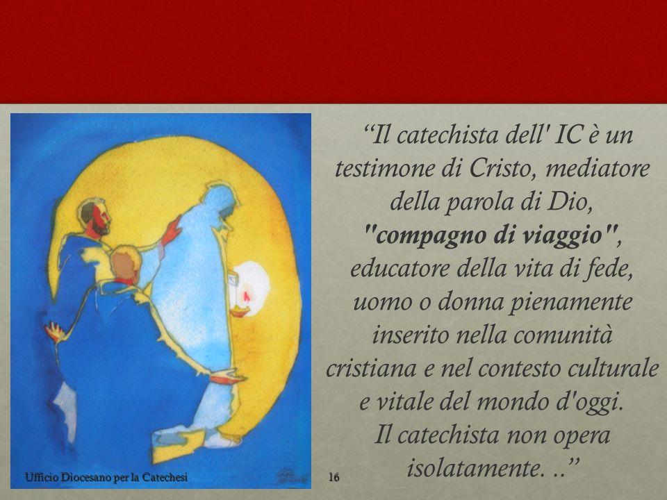 Il catechista dell' IC è un testimone di Cristo, mediatore della parola di Dio,
