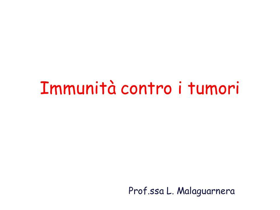Immunità contro i tumori Prof.ssa L. Malaguarnera