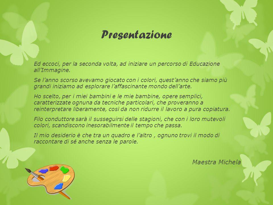 Presentazione Ed eccoci, per la seconda volta, ad iniziare un percorso di Educazione allImmagine. Se lanno scorso avevamo giocato con i colori, questa