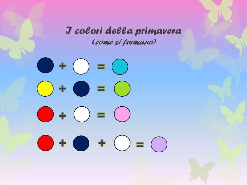 I colori della primavera (come si formano)