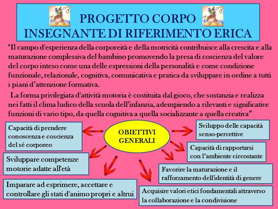 PROGETTO CORPO INSEGNANTE DI RIFERIMENTO ERICA