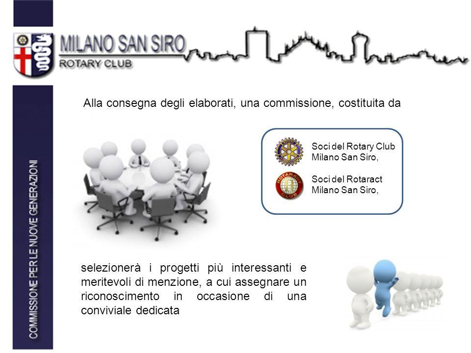 Soci del Rotary Club Milano San Siro, Soci del Rotaract Milano San Siro, Alla consegna degli elaborati, una commissione, costituita da selezionerà i progetti più interessanti e meritevoli di menzione, a cui assegnare un riconoscimento in occasione di una conviviale dedicata