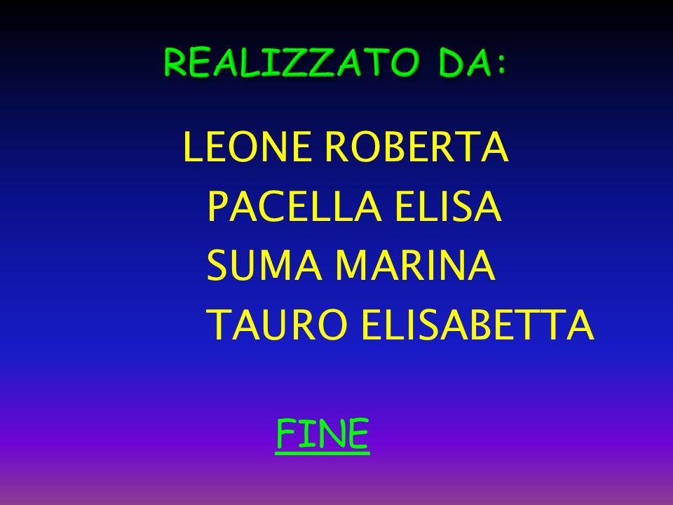 LEONE ROBERTA PACELLA ELISA SUMA MARINA TAURO ELISABETTA FINE