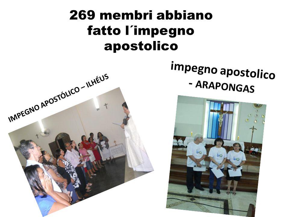 IMPEGNO APOSTÓLICO – ILHÉUS 269 membri abbiano fatto l´impegno apostolico impegno apostolico - ARAPONGAS