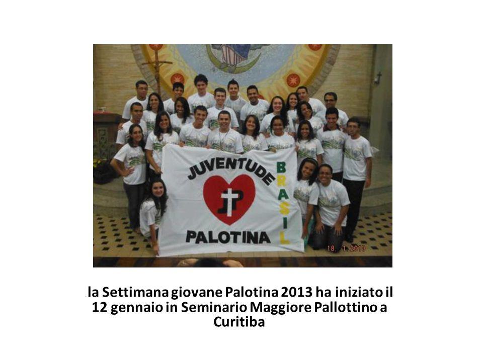 . la Settimana giovane Palotina 2013 ha iniziato il 12 gennaio in Seminario Maggiore Pallottino a Curitiba.