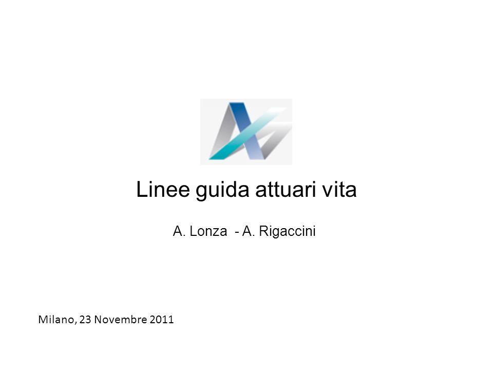 Linee guida attuari vita A. Lonza - A. Rigaccini Milano, 23 Novembre 2011