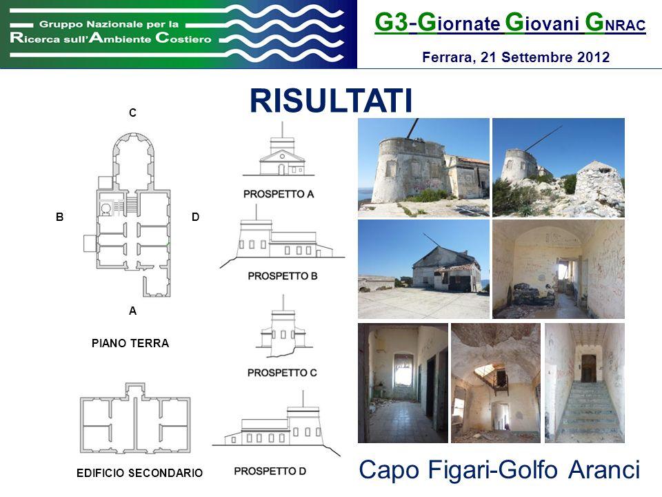G3-G iornate G iovani G NRAC Ferrara, 21 Settembre 2012 RISULTATI PIANO TERRA EDIFICIO SECONDARIO A B C D Capo Figari-Golfo Aranci