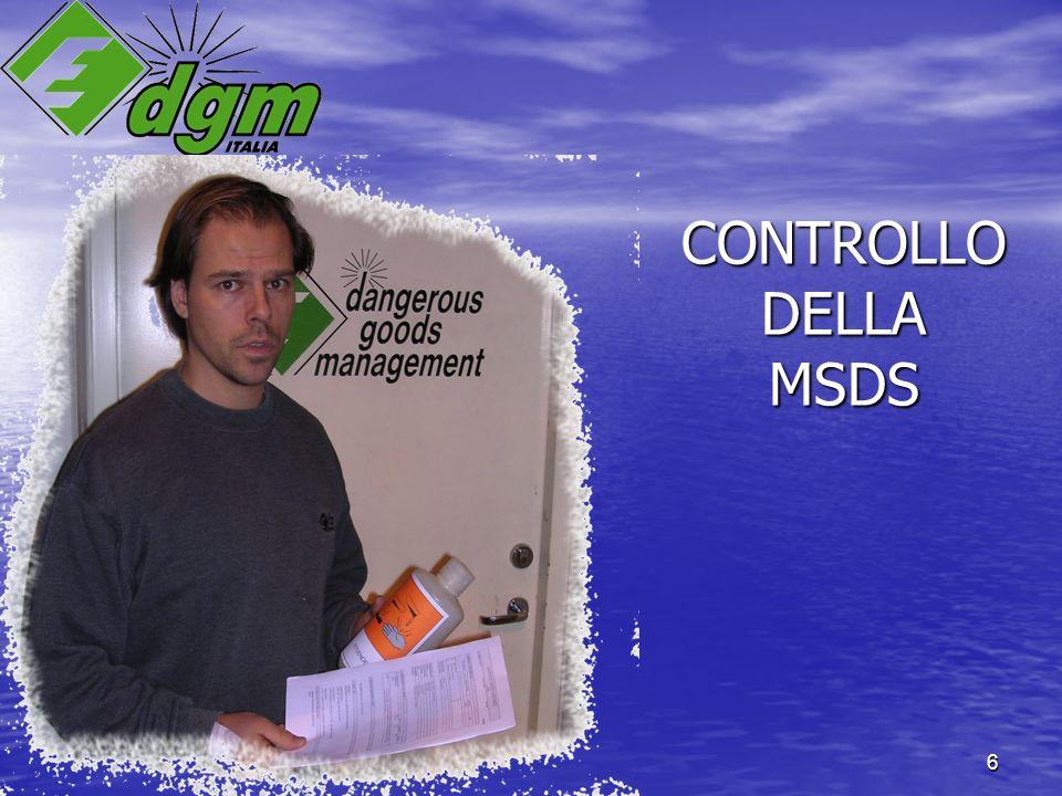 6 CONTROLLO DELLA MSDS