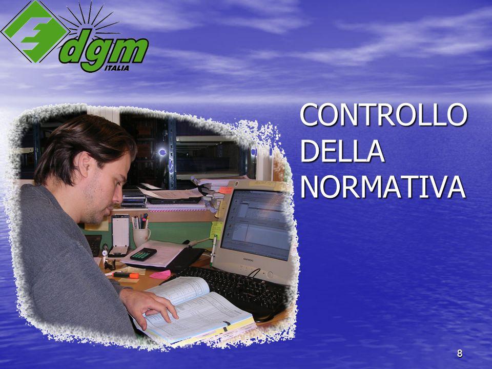 8 CONTROLLO DELLA NORMATIVA