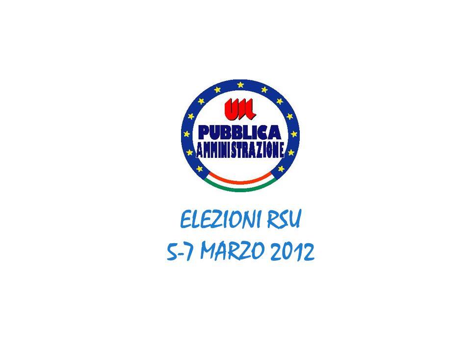 ELEZIONI RSU 5-7 MARZO 2012