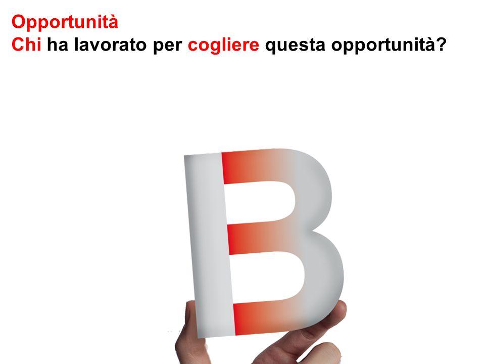 Opportunità Chi ha lavorato per cogliere questa opportunità?