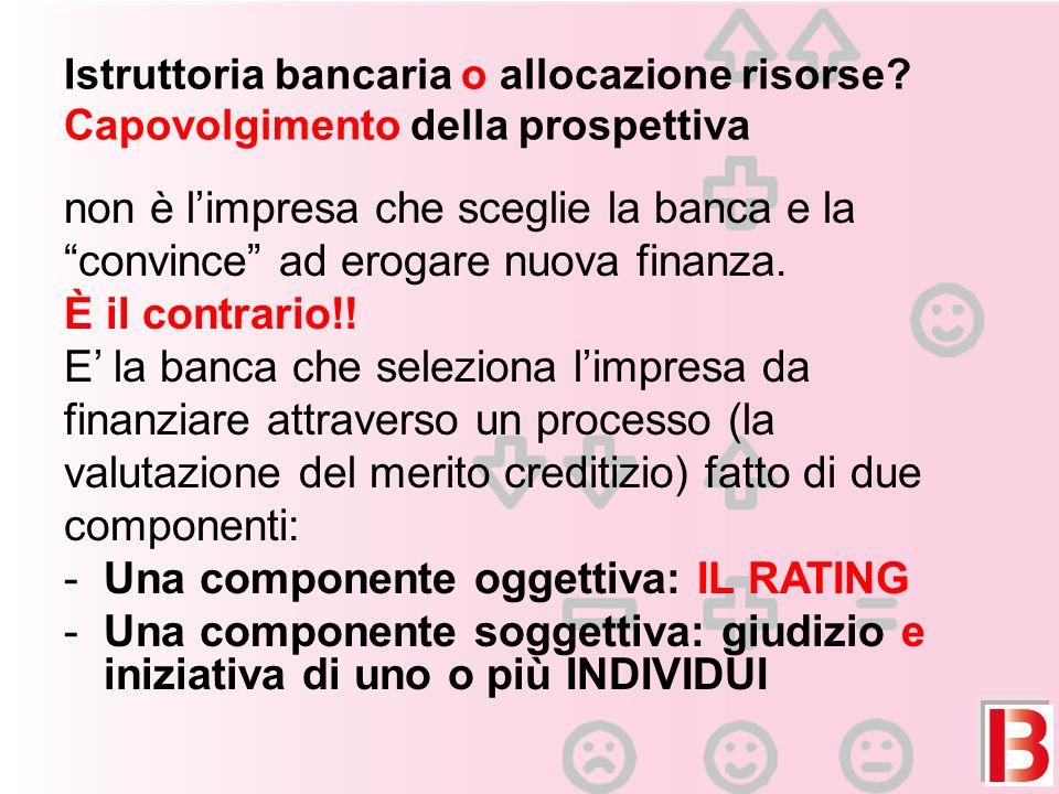 Istruttoria bancaria o allocazione risorse.