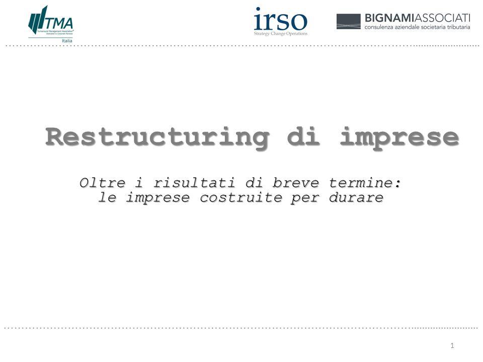 Restructuring di imprese Oltre i risultati di breve termine: le imprese costruite per durare 1
