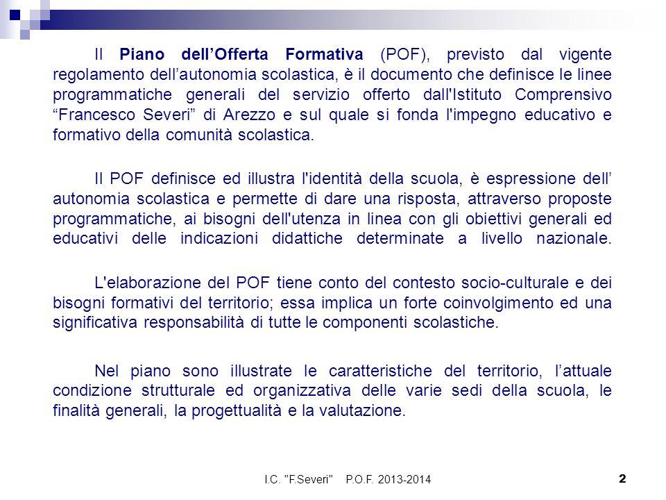 Il Piano dellOfferta Formativa (POF), previsto dal vigente regolamento dellautonomia scolastica, è il documento che definisce le linee programmatiche