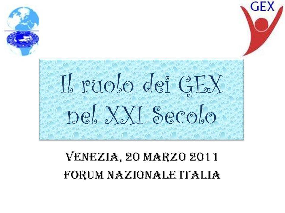 Il ruolo dei GEX nel XXI Secolo Venezia, 20 Marzo 2011 Forum Nazionale Italia