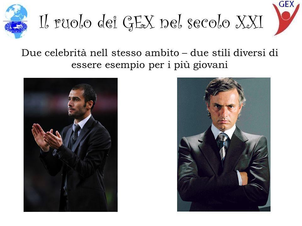 Il ruolo dei GEX nel secolo XXI Due celebrità nell stesso ambito – due stili diversi di essere esempio per i più giovani