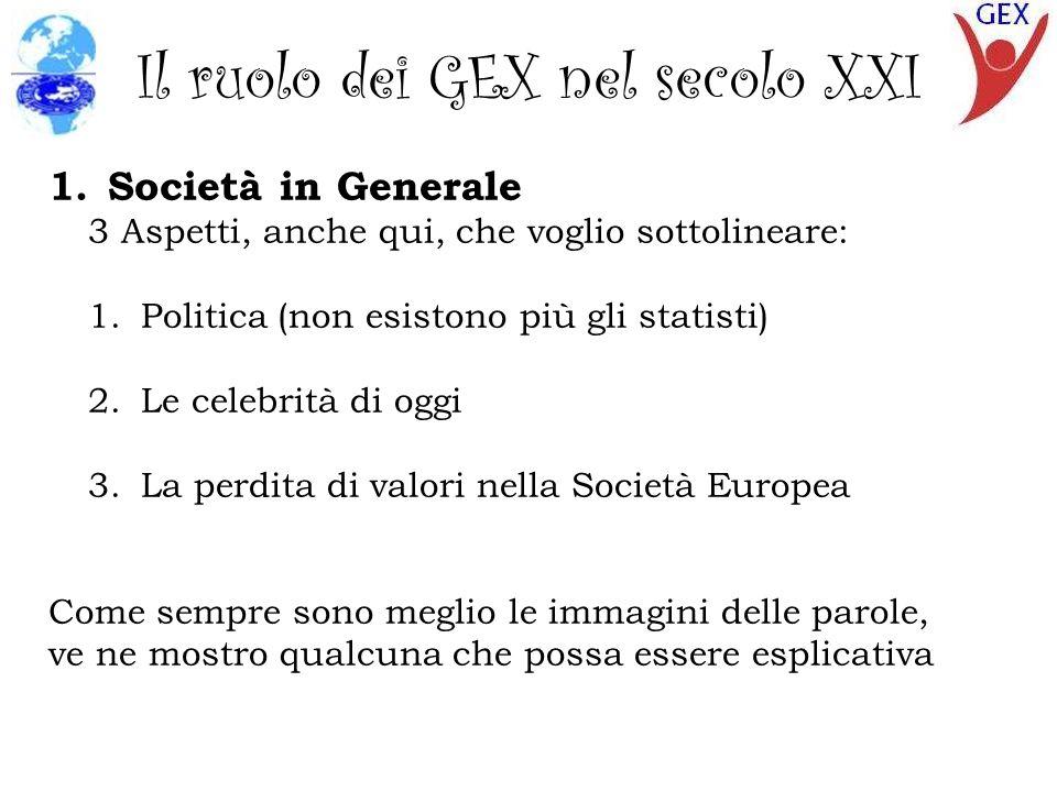 Il ruolo dei GEX nel secolo XXI 3 immagini che illustrano la decadenza della politica italiana attuale