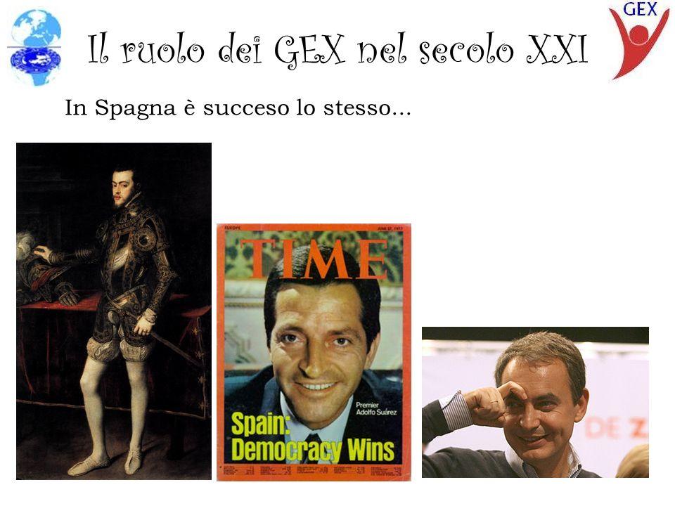 Il ruolo dei GEX nel secolo XXI In Spagna è succeso lo stesso...
