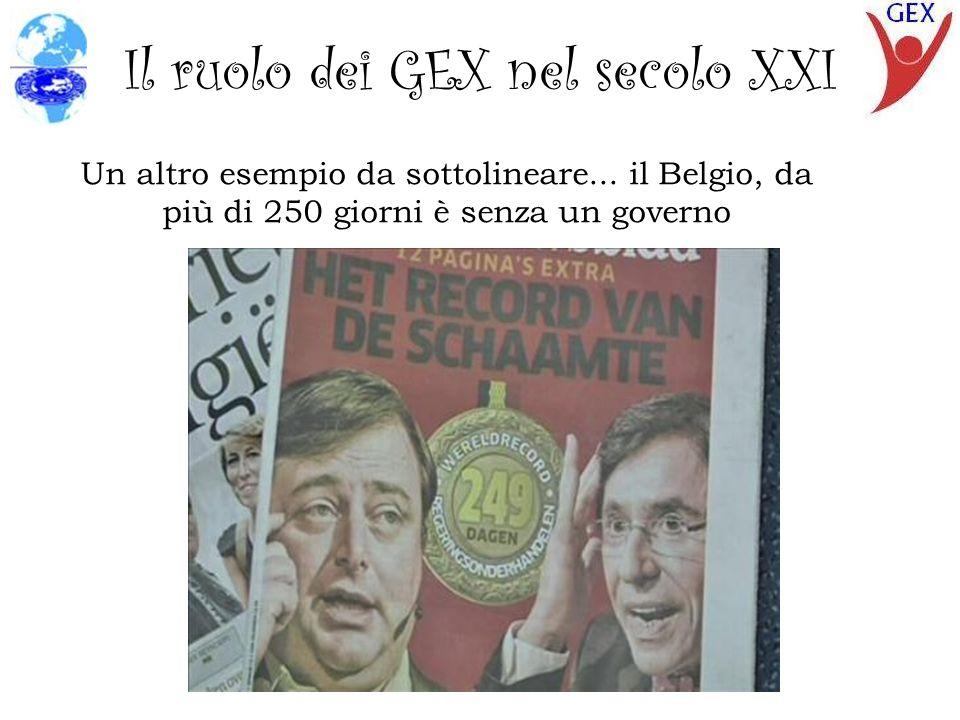 Il ruolo dei GEX nel secolo XXI Un altro esempio da sottolineare...