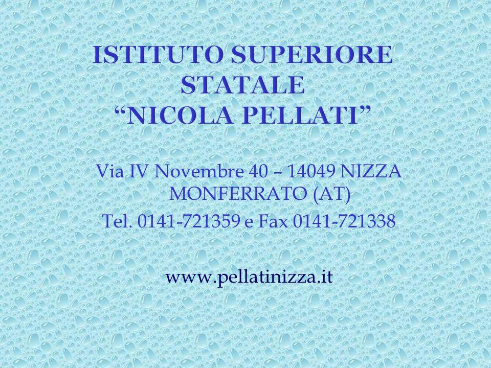 Via IV Novembre 40 – 14049 NIZZA MONFERRATO (AT) Tel. 0141-721359 e Fax 0141-721338 www.pellatinizza.it