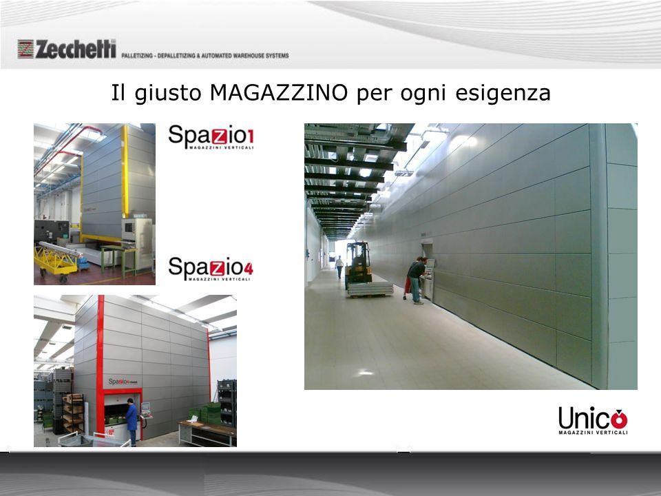 Il Magazzino Verticale Automatico Spazio 1 è un sistema costituito da una struttura a 1 modulo adatta a spazi ristretti e piccole quantità di materiale da immagazzinare.