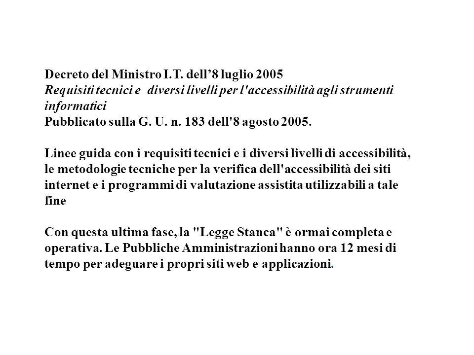 Decreto del Ministro I.T.